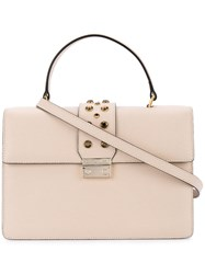Cerruti 1881 Stud Detail Tote Women Calf Leather Polyurethane One Size Nude Neutrals