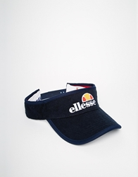 Ellesse Visor Cap In Terry Towel Navy