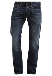 Replay Newbill Straight Leg Jeans Blue Dark Blue