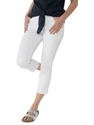 Fat Face Garment Dye Cropped Jeans White