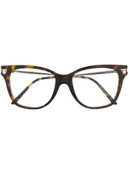 Cartier Cat Eye Glasses Brown