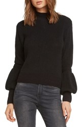 Willow And Clay Bishop Sleeve Back Cutout Sweater