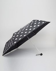 Lulu Guinness Superslim Umbrella In Lips Print Black
