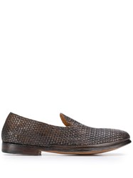 Premiata Woven Effect Loafers Brown
