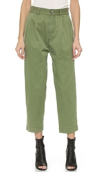 Marc By Marc Jacobs Classic Cotton Trousers Moore Green