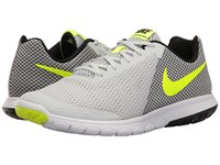Nike Flex Experience Rn 6 Pure Platinum Volt Black White Men's Running Shoes Gray