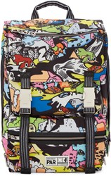 Kenzo Multicolor Nylon Crazy Backpack