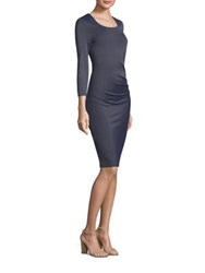 Peserico Ruched Bodycon Dress Peserico Blue