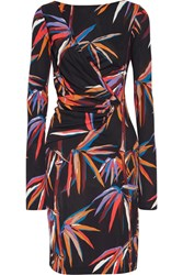 Emilio Pucci Printed Stretch Jersey Dress Black