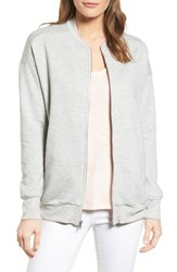Gibson Women's Knit Bomber Jacket Heather Grey