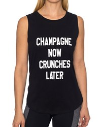 Betsey Johnson Muscle Tank Top Black