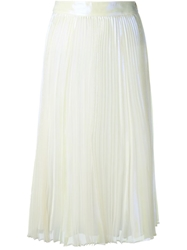Marc By Marc Jacobs Iridescent Pleated Skirt White