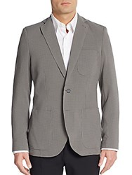 Saks Fifth Avenue Slim Fit Checkered Sportcoat Grey