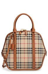 Burberry 'Medium Orchard' Horseferry Check Satchel