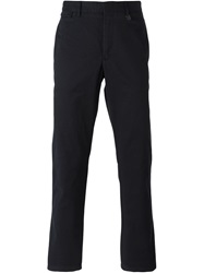 Z Zegna Fitted Chino Trousers Blue