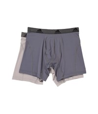 Adidas Relaxed Performance Climalite 2 Pack Boxer Brief Onix Light Onix Men's Underwear Gray