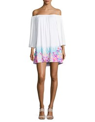 Coco Reef Off The Shoulder Swim Cover Up Dress White