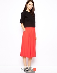 Whistles Daisy Full Midi Skirt Nectar