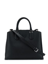 Dkny Logo Plaque Tote Black