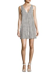 Lucca Couture Sleeveless Striped Sheath Dress White Black