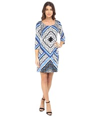 Jessica Simpson Printed Ity Shift Dress Blue Print