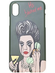 Haculla He Blocked Me Iphone 7 8 Case Green