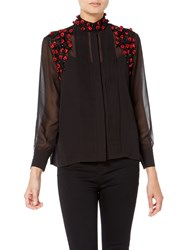 Raishma Roses Shirt Black