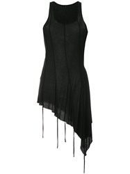 Masnada Asymmetric Tank Top Black