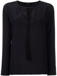 Barbara Bui Tassel Keyhole Detail Blouse Black