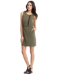 Kenneth Cole Laury Sleeveless Dress Fatigue Green