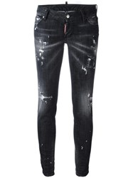 Dsquared2 Jennifer Distressed Stonewash Jeans Black