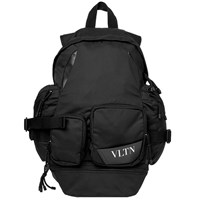 Valentino Vltn Technical Backpack Black