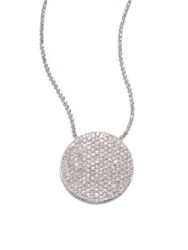 Phillips House Pave 14K White Gold And Diamond Large Infinity Disc Necklace