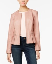 Inc International Concepts Faux Leather Peplum Jacket Only At Macy's Shy Blush