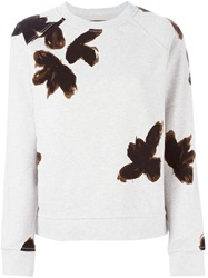 Marc By Marc Jacobs Brush Stroke Print Sweater Grey