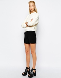 Mango Tailored Shorts Black