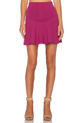 Donna Mizani Mini Flounce Skirt Wine