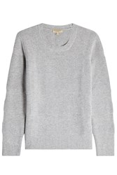 Burberry London Wool Pullover With Cashmere Grey