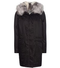 Army By Yves Salomon Fur Lined Parka Black