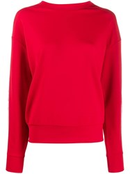 Iceberg Logo Crew Neck Sweater Red