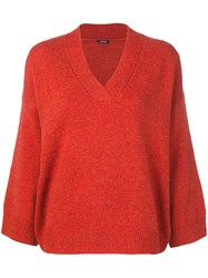 Aspesi V Neck Jumper Orange
