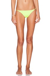 Sauvage Lotus Bikini Bottom Yellow
