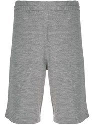 Z Zegna Knitted Track Shorts Grey