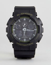 G Shock Ga 100L 1Aer Digital Silicone Watch In Black Black