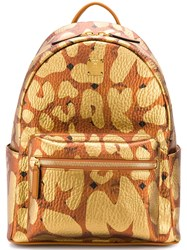 Mcm Mmk8ave13 Cognac Synthetic Pvc Yellow And Orange