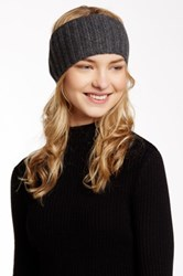 Portolano Ribbed Cashmere Headband Gray
