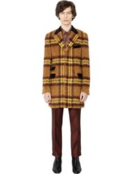 Lords And Fools Checked Mohair Alpaca Blend Coat