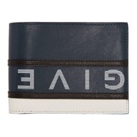Givenchy Navy And White Reverse Logo Bifold Wallet