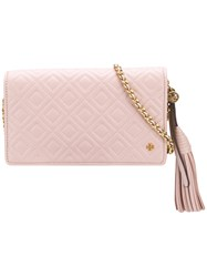 Tory Burch Quilted Crossbody Bag Pink And Purple