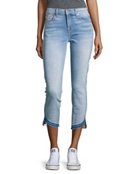 7 For All Mankind Roxanne Ankle Length Classic Skinny Jeans Blue